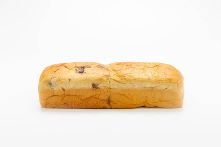 Raisin Bread on white background. Standard-Bild - 134095278