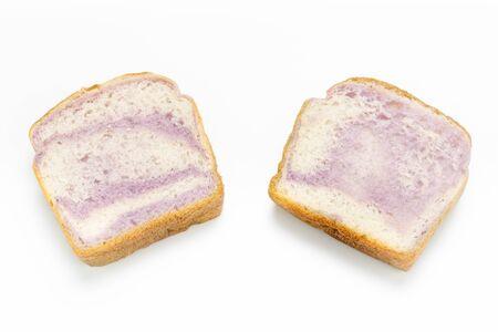 Taro bread on white background. Standard-Bild - 134095321