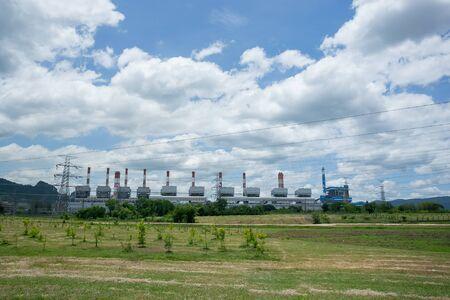 Landscape Coal power plant. Mae Moh Power Plant Coal power plant Mae Moh Lampang. Standard-Bild - 134095626