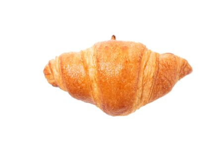 fresh croissants with top view isolated on white background Standard-Bild - 138146324