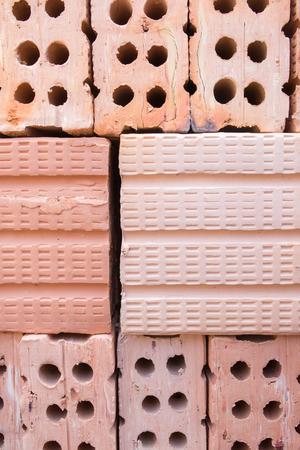 housebuilding: Close-up brick Stock Photo