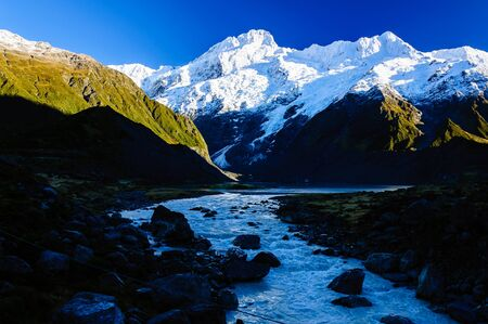 hooker: This is a Hooker Valley Track,Mount Cook, New Zealand.