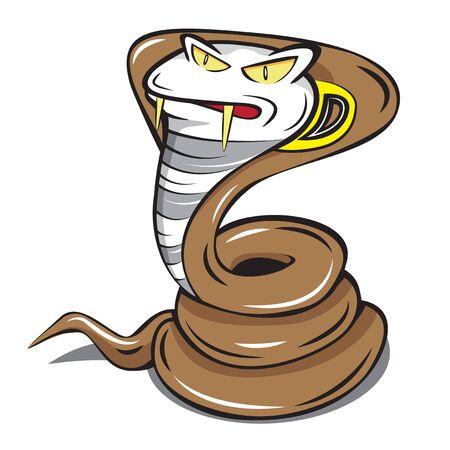 poison fang: cobra snake mascot fast