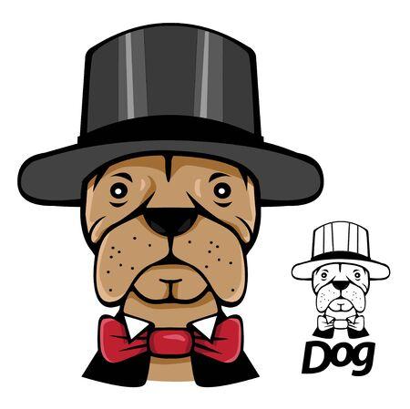 hatter: portrait magic dog  Hatter hat