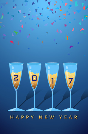 new year party: new year party congratulating Illustration