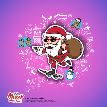 holy book: santa christmas gifts skateboard holiday