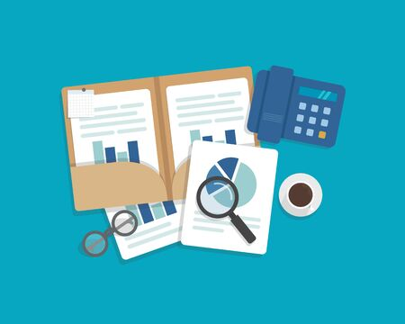 Auditing and business analysis concept, auditing tax process