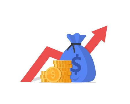 Financial performance, statistic report, boost business productivity Vetores