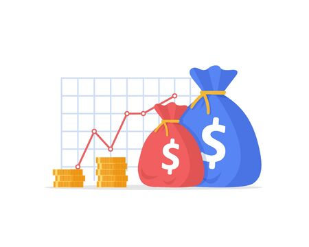 Financial performance,mutual fund, return on investment, finance consolidation, budget planning Vectores