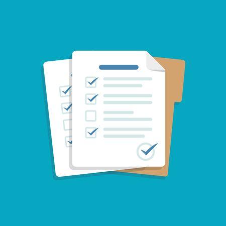 Contract documents pile vector illustration Ilustração Vetorial