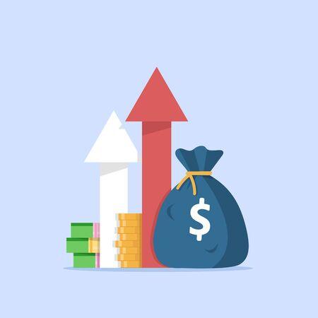 Einkommenswachstum Investitionen, Finanzielle Leistung, Statistikbericht, Steigerung der Unternehmensproduktivität