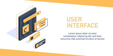 interface design website,User experience, projecting and testing app and software concept,user interface,flat design icon vector illustration