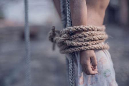 slave labor: abuse Stock Photo