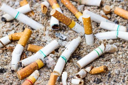 anti-smoking, sepia Stock Photo
