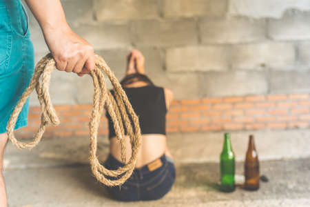 Women attacked with rope