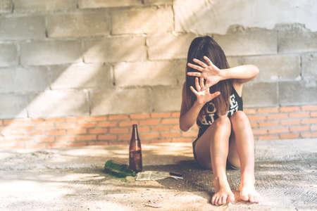 Alcoholism, Alcoholism issue Stock Photo