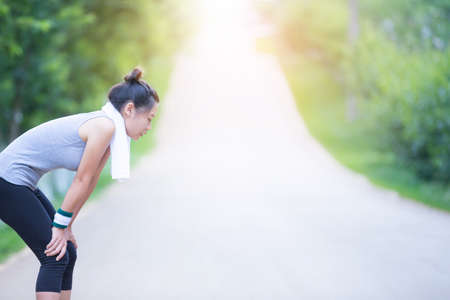 Women tired of exercise. 写真素材