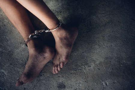maltreatment: Human trafficking ,Stop abusing violence.