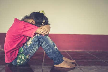 暴力を濫用を停止します。暴力、恐怖、恐ろしい子。 写真素材