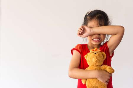 Stop met geweld te misbruiken. geweld, doodsbang, een angstig kind. Stop misbruik geweld. geweld, doodsbang, een angstig kind Stockfoto
