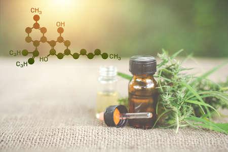 Cannabis oil, CBD oil cannabis extract, Medical cannabis concept. Standard-Bild