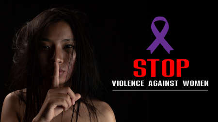 International Day for the Elimination of Violence against Women, Human trafficking concept, End to violence against women.
