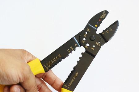 crimp: Crimping tool Stock Photo