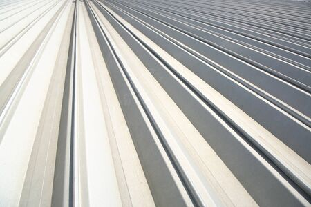 metal roofing Stock Photo