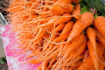 tempted: fresh carrots Stock Photo