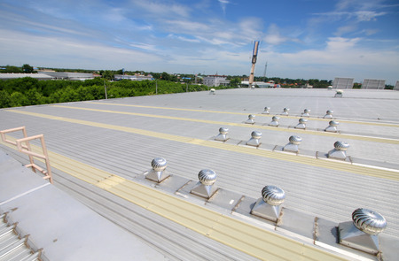 Roof vents on roof top