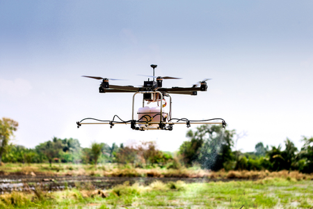 drone flying for agriculture purpose
