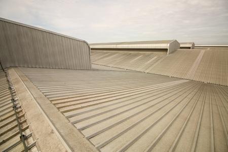 factory building metal roof Foto de archivo