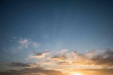 sunset and cloud landscape background