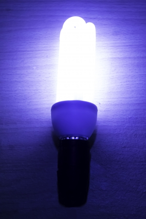 fluorescence: Fluorescence lamp abtrak blue light