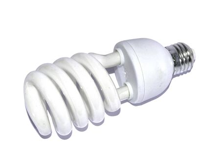 cfl: isolated  white cfl light bulb Stock Photo