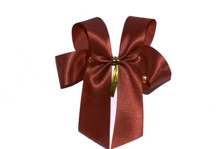 ribbin: isolated red ribbin for decoret gift box
