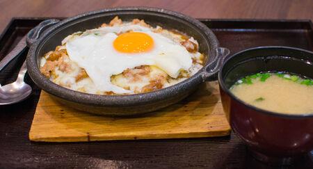 japon food: japon riz alimentaire � l'oeuf Banque d'images