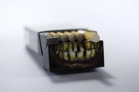 cigarette pack: cigarette pack isolated on white.