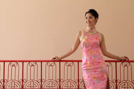 Asian woman with chinese traditional clothing photo