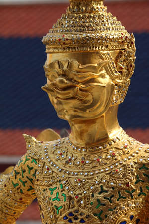 Statue of a demon, Grand palace sculpture, Bangkok, Thailand