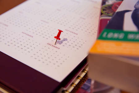 December Calendar concept of Planner purpose for business event, agenda, schedule,booking, appointment, timeline, payment reminder and new year.