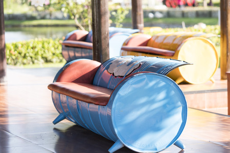 Sofa made of Recycled Oil Drums