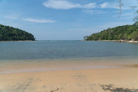 2 small island in tropical andaman sea, beautiful tropical island, beautiful sea sand wave in Phuket