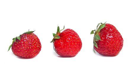 Ripe strawberries on white background                     Stock Photo - 1319755