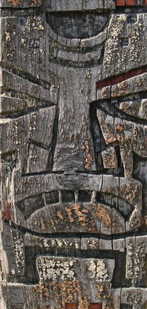 Detail of totem pole photo