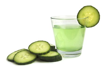 Cucumber drink with fresh cucumber Stock Photo