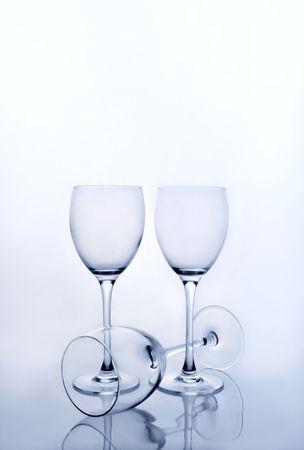 Tres copas de vino vacías Foto de archivo - 3007053
