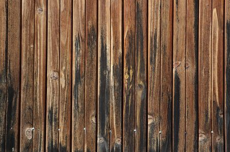 Beautiful wooden fence texture close-up photo