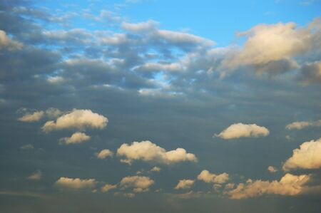 cloud scape: Dramatic cloud scape background in blue tone Stock Photo