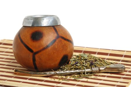 �up from calabash and straw - traditional drink of Argentina. photo